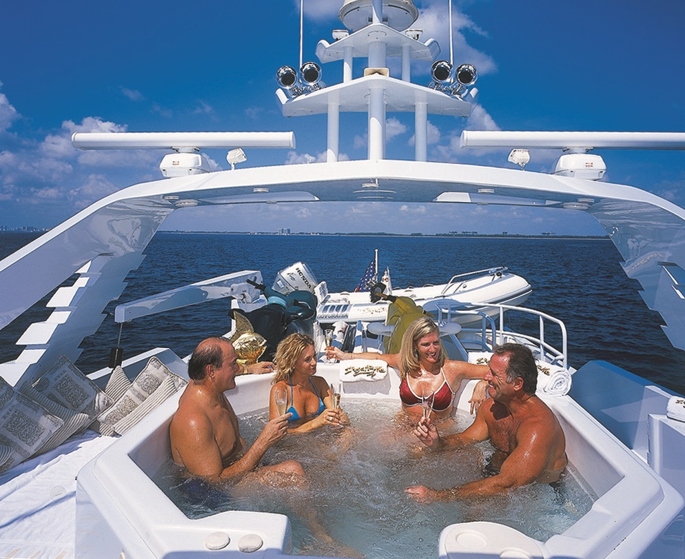 Luxury Charter Yacht Insatiable Jacuzzi
